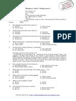Worksheet Kelas 7 Telling Times 3