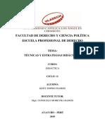 Trabajo Monográfico Técnicas y Estrategias Didácticas
