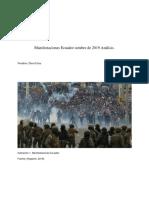 Analisis Teoria Social Protestas Ecuador 2019