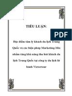 [Essay] MKT Mix theo Đặc điểm tâm lý khách du lịch Trung Quốc.pdf