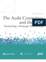 The audit Comitte and the CAE