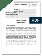 Guía Laboratorio 4. Carbohidratos
