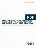 13 Professional Review Report and Interview Guidance