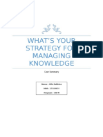 Summary What's Your Strategy for Managing Knowledge.docx