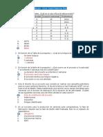 costos y presupuesto, examen