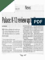 Manila Standard, Oct. 22, 2019, Palace K-12 review up to House.pdf