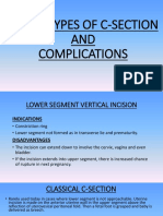 Types and  complication of c-section
