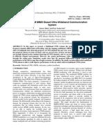 Multiband-OfDM MIMO Based Ultra-Wideband Communication System SAMEER KHAN
