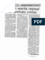 Peoples Journal, Oct. 22, 2019, Solon wants repeal of archaic crime.pdf