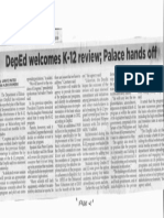 Philippine Star, Oct. 22, 2019, DepEd welcome K-12 review Palace hands off.pdf
