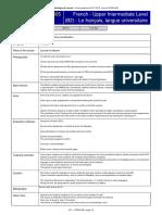 French - Upper Intermediate Level (B2) - Le français, langue universitaire