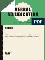 Verbal Adjudication