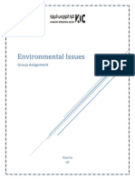 Environmental Issues Assignment