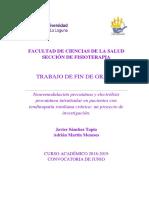 Neuromodulacion Percutanea y Electrolisis Percutanea Intratisular en Pacientes Con Tendinopatia Rotuliana Cronica Un Proyecto de Investigacion.