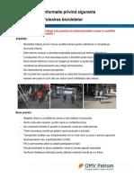 Informatie Privind Siguranta- Utilizare Bicicletelor- Septembrie 2019