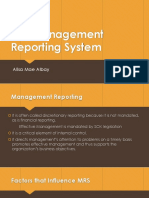 The Management Reporting System