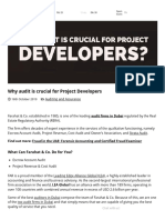 Why Audit is Crucial for Project Developers _ Auditing Firms in Dubai for Real Estate Projects