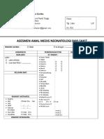 ASESMEN AWAL MEDIS NEONATOLOGY BAYI SAKIT EDIT.doc