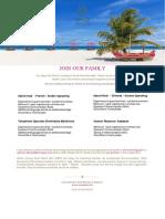 Job Posting _ Sun Aqua Vilu Reef 21 10 2019
