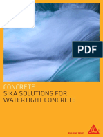 Sika Solutions for Watertight Concrete