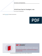 Feasibility Analysis of 100 KW Solar Plant for Cha
