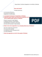 Essay Outline_ the Role of Opposition in the Politics of Pakistan