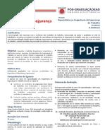 Informações Complementares Engenharia de Segurança Do Trabalho