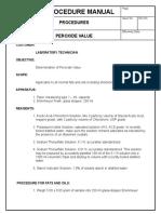 Procedure Peroxide Value