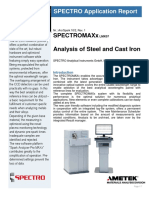 SPECTROMAXX R10 2 Analysis of Steel and Cast Iron March2016