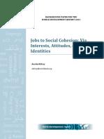 Jobs social cohesion