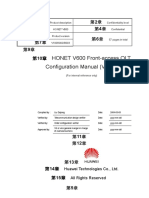 HONET V600 Front-Access OLT Configuration Manual (V1.10)