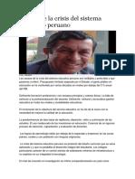 Causas de La Crisis Del Sistema Educativo Peruano