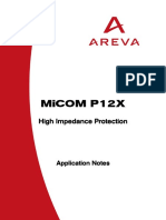 APPLICATION NOTES FOR MICOM P12X HIGH IMPEDANCE PROTECTION