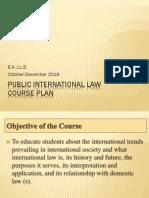 Public Internastonal Law Course Plan