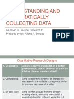 FINALS Understanding and Systematically Collecting Data