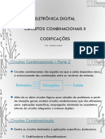 Eletrônica Digital I - Circuitos Combinacionais II - CODIFICAÇÕES