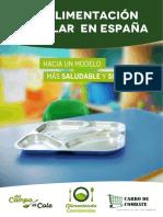 La Alimentacion Escolar en Espana-Alimentando Conciencias