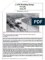 Nellis AFB Bombing Range Nevada Area 51