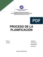 El Proceso de La Planificación