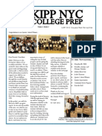 KIPP NYC College Prep HS Monthly Newsletter