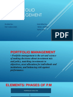 Portfolio Management Theory