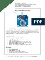 Datasheet TTP223 Capacitive Touch Sensor Module