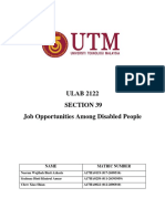[Final Term Paper] Job Opportunities Among Disabled People