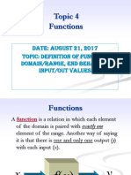 Domain range of the function