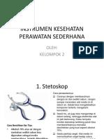 Instrumen Kesehatan Perawatan Sederhana