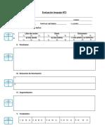 Evaluación Formativa NT2 Marzo 2014, Hoja de Respuesta