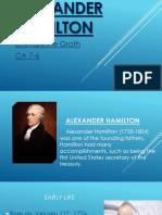 Alexander Hamilton Powerpoint Presentation