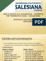 Sistemas anticontaminantes del automovil