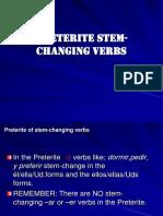 preterite stem-changing verbs ii