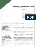 Hoja de Impresión de Trifles de Limón y Arándanos (Lemon Bluberry Trifles)